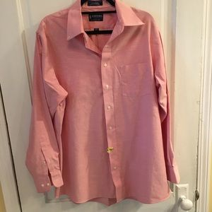 Salmon dress shirt Large